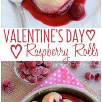 These heart shaped raspberry rolls are the perfect sweet treat or breakfast idea for your sweetheart this Valentine's Day!