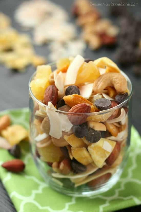 Tropical Trail Mix Dessert Now, Dinner Later!