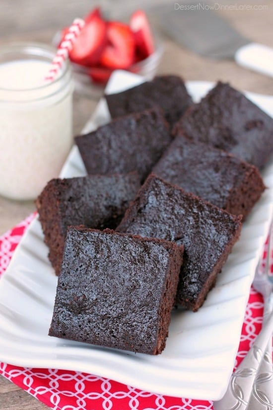 These gluten-free brownies are made with coconut flour for a delicious wheat-free treat!