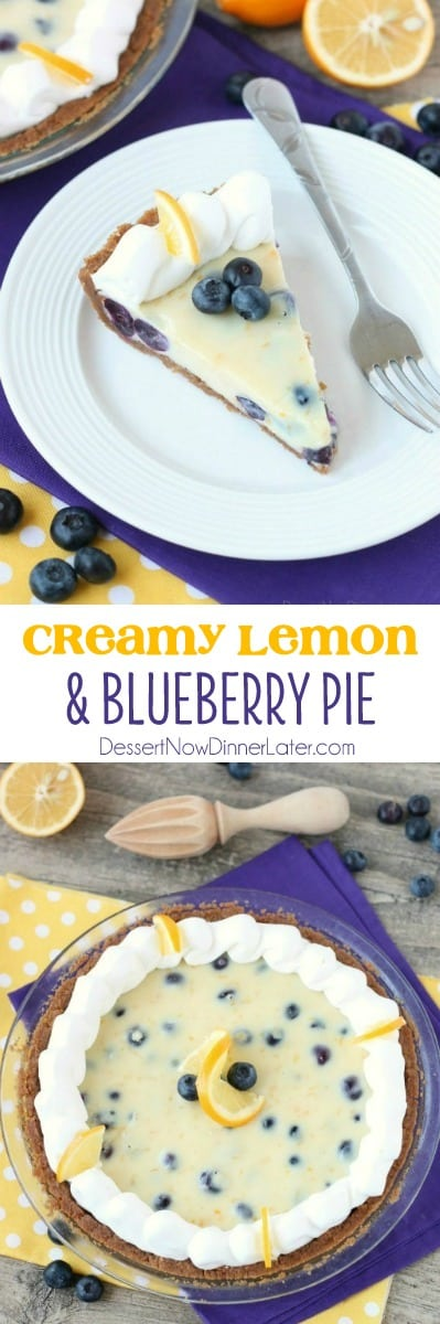 Creamy Lemon and Blueberry Pie (+ More Pies To Celebrate Pi Day ...