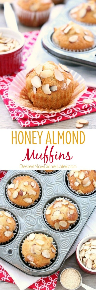 Almond extract and C&H® Honey Granules flavor these easy and lightly sweet breakfast muffins.