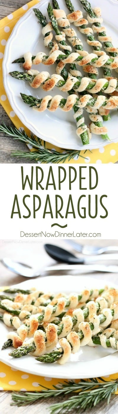 Easy and elegant, this wrapped asparagus is a delicious and light spring appetizer.