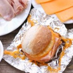 Hot Ham and Pineapple Campfire Sandwiches