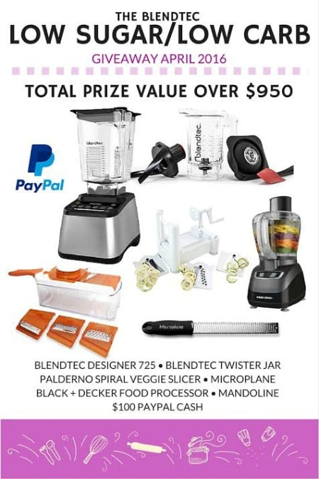 Low Sugar Low Carb Blendtec Giveaway