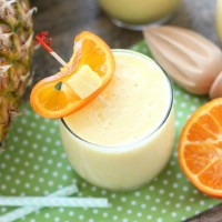 Just add ice to this frothy, sweet, and creamy 4-ingredient summer slush, also known as Pineapple Orange Smoothie.