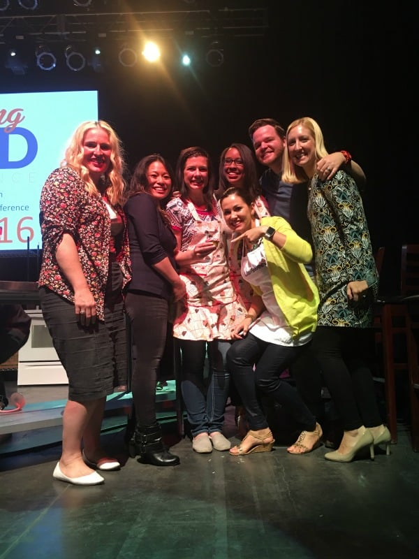 "Everything Food Conference's mock ""Cupcake Wars"" Winners with the Judges"