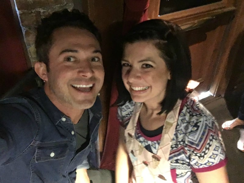 Selfie with previous Cupcake Wars host, Justin Willman