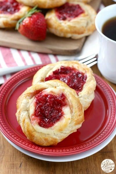 Strawberries and Cream Danishes