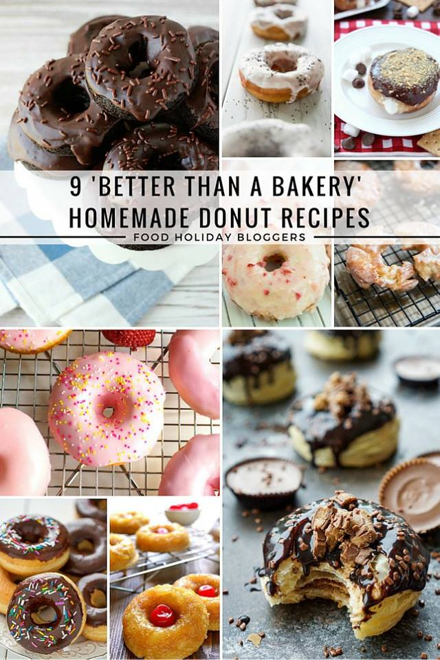 9 Better Than A Bakery Homemade Donut Recipes // Food Holiday Bloggers