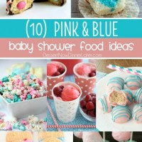 "Your guests will ""ooh"" and ""aah"" over these tasty pink and blue baby shower food ideas! Perfect for a gender reveal party or adorable baby shower."