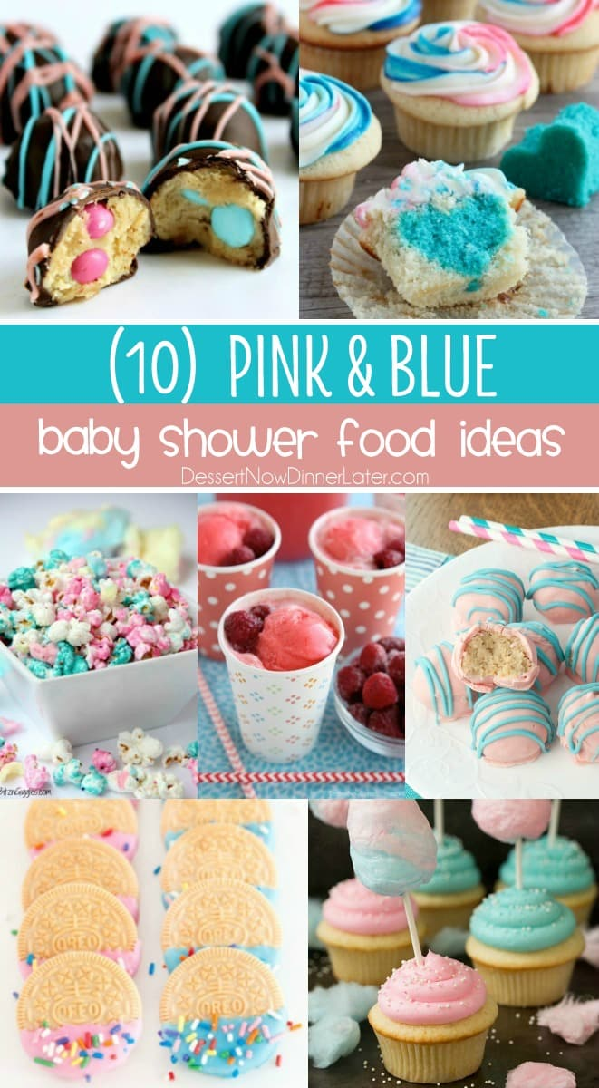 baby shower food ideas perfect for a gender reveal party or adorable