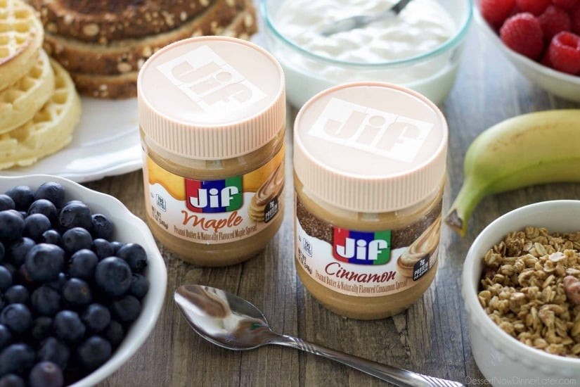 Enjoy peanut butter for breakfast and on-the-go with Jif! #peanutbutterhappy