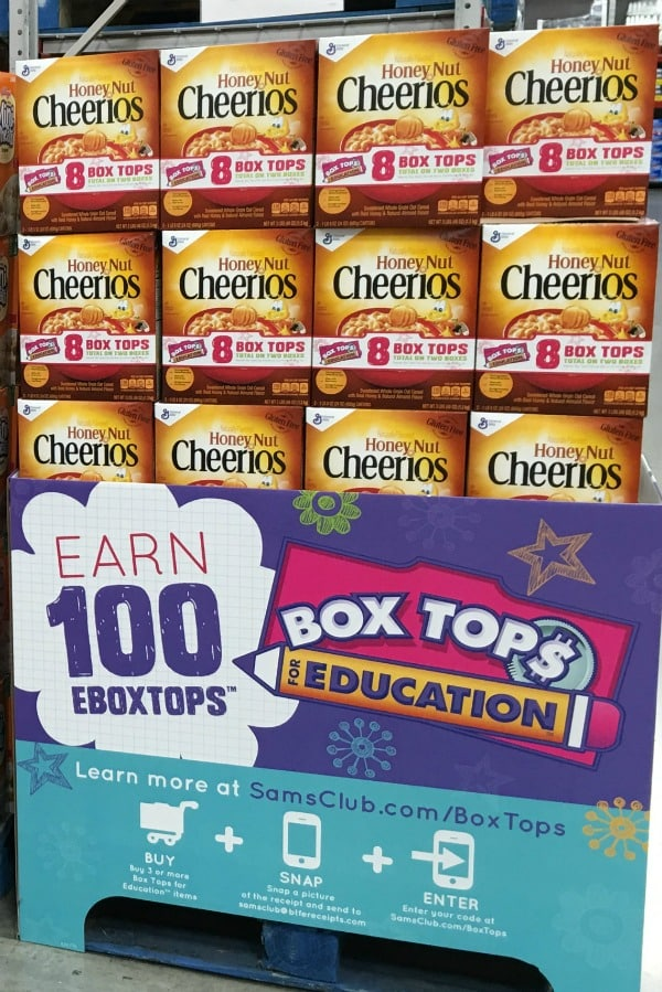Stock up on General Mills products at Sam's Club and earn mega (100, 200, 300, or 400) eBoxTops for your child's school!