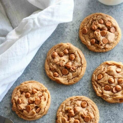 Pudding mix and baking chips make these Butterscotch Cookies soft, chewy, and extra tasty!