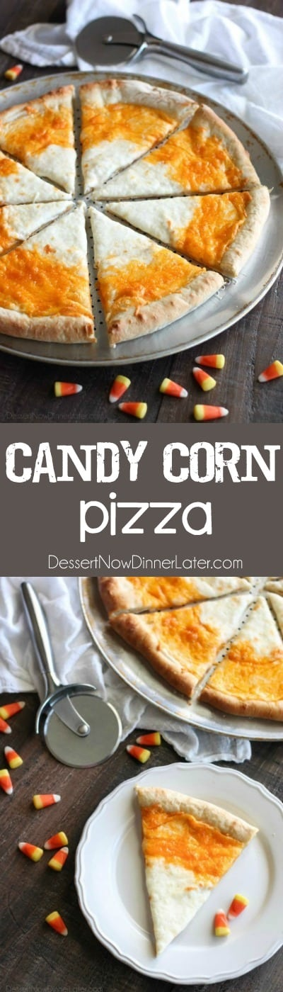 Candy Corn Pizza - Dessert Now, Dinner Later!