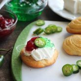 Sweet and heat combine in these cranberry jalapeño crescent bites with a cooling layer of cream cheese. Simple and unique, this holiday appetizer that will have your guests wanting more.