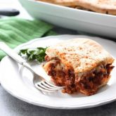 This meaty, cheesy, sloppy joe bake is total comfort food in a casserole.
