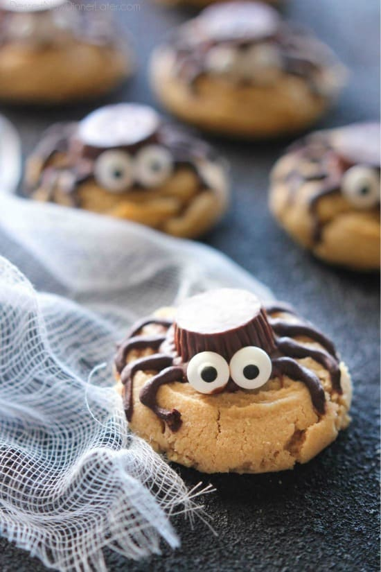 not all halloween food has to be gross and gory these super cute spider cookies