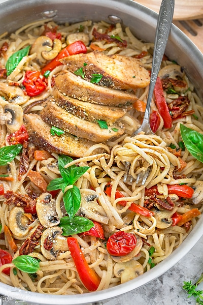 One Pot Tuscan Chicken Pasta // Life Made Sweeter