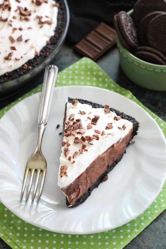 Chocolate Pudding Pie - Dessert Now, Dinner Later!