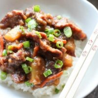 Slow Cooker Mongolian Beef & Pineapple