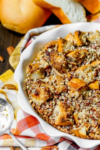 Pecan Pie French Toast Bake // The Love Nerds
