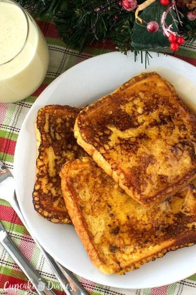 Eggnog French Toast // Cupcake Diaries