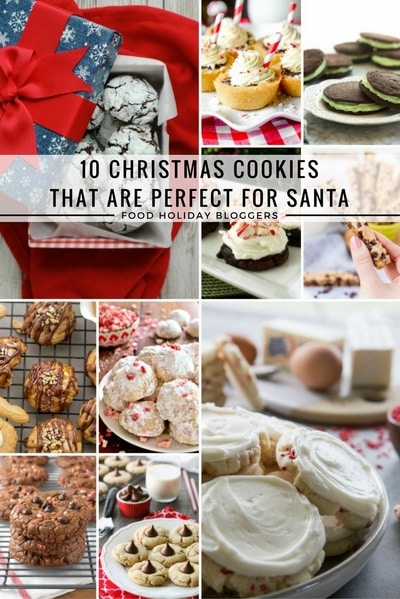 10 Cookie Recipes That Are Perfect for Santa // Food Holiday Bloggers