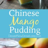 Chinese Mango Pudding is creamy, smooth, and full of sweet mango flavor. Plus it's simple to make. A great dessert for Chinese New Year!