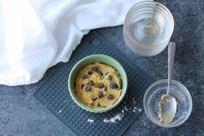 This microwave chocolate chip cookie is the perfect dessert for one! It cooks in only 40-60 seconds for a super quick, sugar fix.