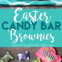 These candy bar brownies are stuffed with Easter candy for a surprise in each bite - just like an Easter egg hunt!