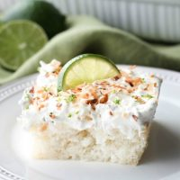 Coconut Lime Poke Cake