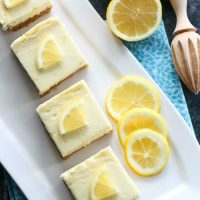 Lemon Cheesecake Bars are creamy and lightly sweet with a bright and tangy lemon flavor throughout for a wonderful spring time dessert.