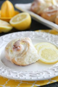 Lemon Cream Cheese Sweet Rolls are tangy and sweet with a hint of cream cheese, plus easy to make with frozen dough!