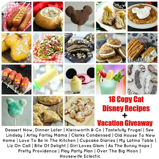18 delicious Copycat Disney Recipes + Vacation Giveaway