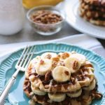 Banana Nut Cinnamon Roll Waffles