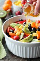 Fruit Salad with Honey Orange Glaze