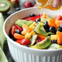 Fruit Salad with Honey Orange Glaze