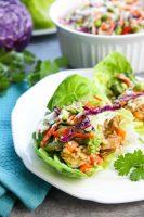 Teriyaki Chicken Wraps with Asian Slaw