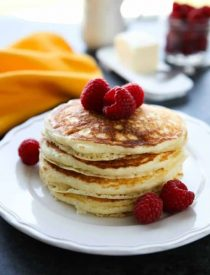 These homemade buttermilk pancakes are fluffy and easy to make for breakfast any day of the week!