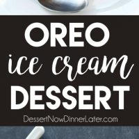 This Oreo Ice Cream Dessert has layers of cookies and cream goodness! It's easy, no-bake, and perfect for summer!