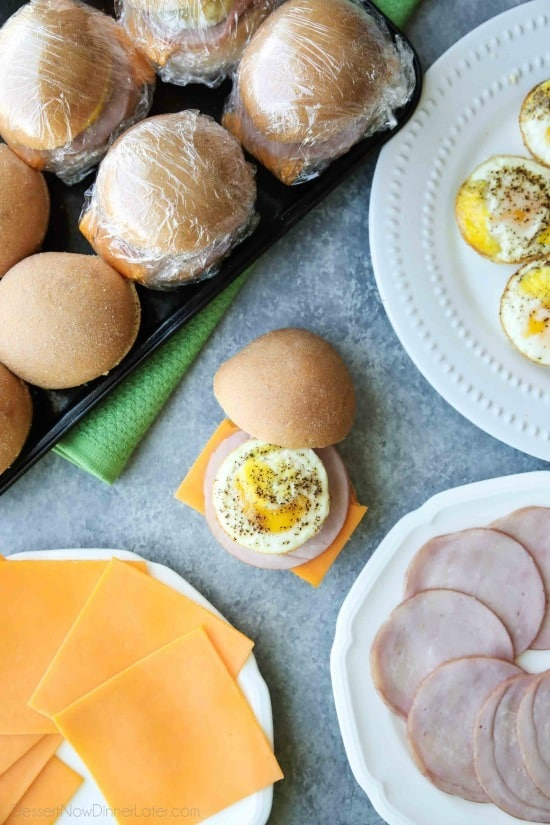 Freezer Breakfast Sandwiches are great for meal prep. A quick and satisfying breakfast for busy school mornings or on-the-go.