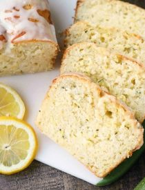 Lemon Zucchini Bread combines two favorites into one easy-to-make loaf! The fresh summer zucchini keeps this cake incredibly moist, and the zesty lemon flavor is tangy and sweet.