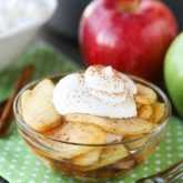 Crustless Apple Pie is a super easy, healthier holiday dessert that tastes great. Top it with sweetened whipped cream for a little indulgence.