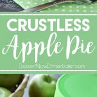 Crustless Apple Pie is a super easy, healthier holiday dessert that tastes great. Top it with sweetened whipped cream for a little indulgence. (+ RECIPE VIDEO) #ad @vitalproteins