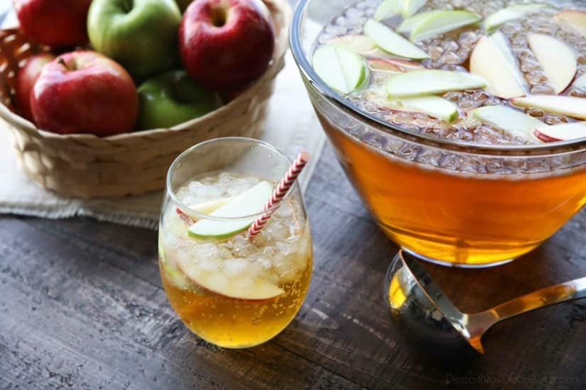 Homemade Sparkling Apple Cider tastes like Martinelli's, and serves a crowd. It's easy to make and cheap! A great non-alcoholic drink for the holidays.