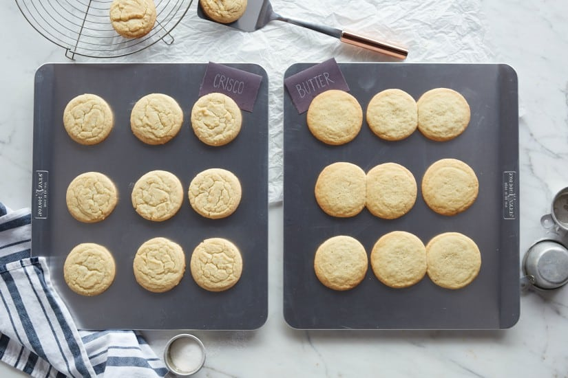 Crisco vs Butter Sugar Cookies