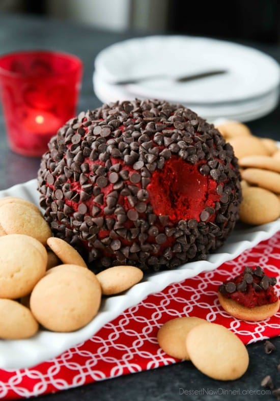 Christmas Cheese Ball.Red Velvet Cheese Ball