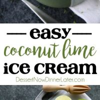 This no churn Easy Coconut Lime Ice Cream is creamy, sweet, tangy, and perfectly tropical. Add soda for an amazing ice cream float! No ice cream maker needed! (+ Recipe Video!)