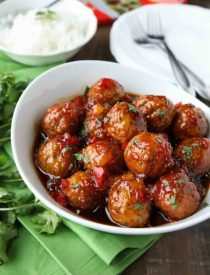 Sweet Fire Meatballs are sweet with a kick of heat and use frozen meatballs for a super easy dinner any night of the week.